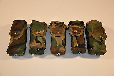 Lot of 5 USGI MOLLE II Double 30 Round Mag Pouches - Woodland Camo, Issued