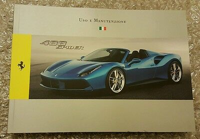 Ferrari 488 Spider Owner's Manual - Italian Version