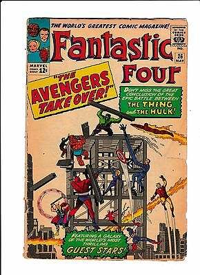 """Fantastic Four No.26  : 1964 :   : """"The Avengers Take Over!"""" :"""