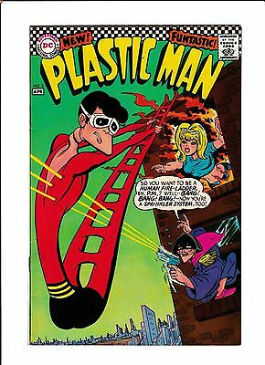 Plastic Man  #3  [1967 Vg-Fn]  Fire Rescue Cover!