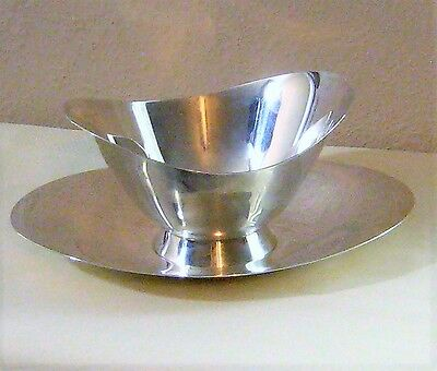 Gorgeous Tiffany Makers Sterling Gravy Boat & Under Plate #23536 & 23535 428.3 G