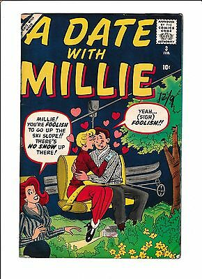 A Date With Millie #3  [1960 Gd-Vg]   Ski Lift Cover!