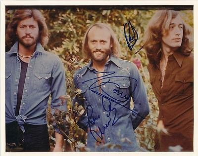 The Bee Gee's-Signed Vintage Glossy Photograph By All 3