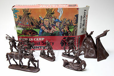 ATLANTIC 1/32 1212 SIOUX CAMP scatola originale non completa