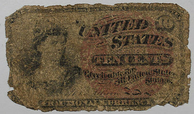 SERIES 1863 10 CENT FRACTIONAL,  4th ISSUE, POOR