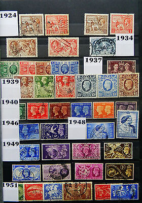Gb Complete Commemorative Set Collection - 435 Used Sets 1924-2009