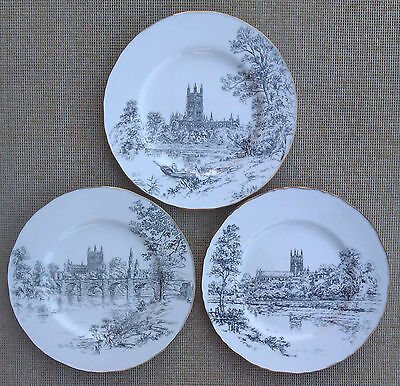 Royal Worcester - Selection Of Cathedral Plates