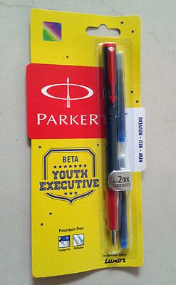 PARKER Beta Fountain Pen * with 2 Ink Cartridges + 1 Ink Converter FREE