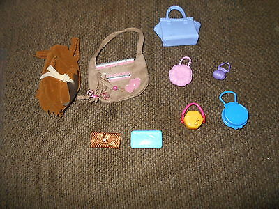Lot of 9 Barbie sized Purses and Bags
