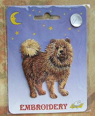 DOG Embroidery Iron On Patch - Chow Chow Dog (Chow Puppy?)