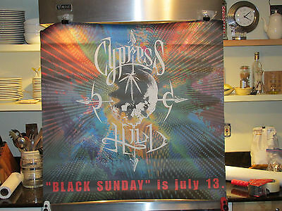 Cypress Hill 1993 Black Sunday Album Advance Release 36 by 36 Rare Store Poster