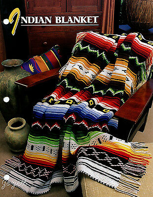Indian Blanket Afghan ~ Southwest Native American Style, Annie's crochet pattern