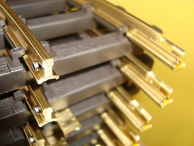 Bachmann G Scale New Solid Brass Track For Outdoor Use 12 Sections 1 Ft Straight