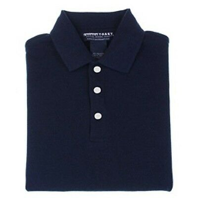 Navy Blue 12 Husky Short Sleeve Polo Shirt School Uniform Unisex French Toast