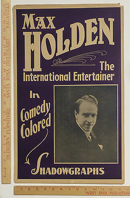 Max Holden Magic Poster Window Card  ~1920s or 1930s