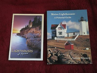 Maine Lighthouses:  A Pictorial Guide & Lighthouses of Maine  Lot of 2 books