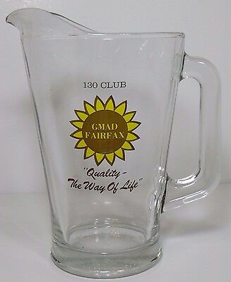 1970s GENERAL MOTORS ASSEMBLY DIVISION GMAD FAIRFAX CAR ADVERTISING BEER PITCHER