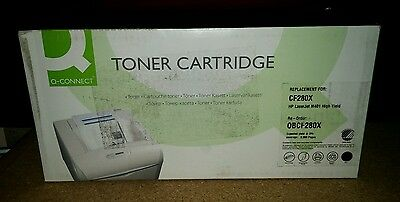 Q-Connect  Remanufactured Black LaserJet Toner Cartridge High Yield CF280X