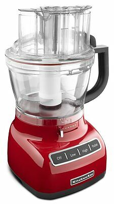 KitchenAid 13 Cup Exact Slice Food Processor Red & dicing Kit NEW RED