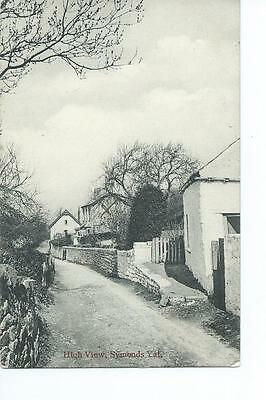 Herefordshire printed Edwardian PC view of High View, Symonds Yat