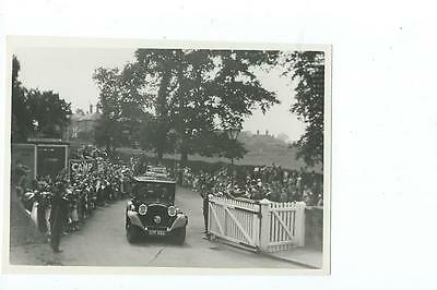 Herefordshire PLAIN BACK RP PHOTO  Queen Mary's visit to Ledbury 1938