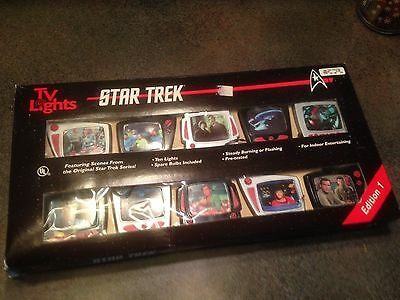 Very Rare -1997- Edition 1 Original Star Trek 10 Tv Lights - Works Great!