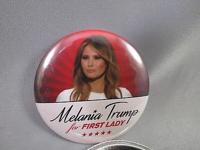 WHOLESALE LOT OF 12 MeLANIA TRUMP FOR  FIRST LADY BUTTONS DONALD MONEY $ USA RED