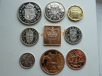Various 1970 Royal Mint Proof Coins Last Year Of Issue Your Choice Coin Hunt