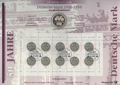 Numisblätter 1998: Numisblatt 3/98 German Mark With 10 Dm