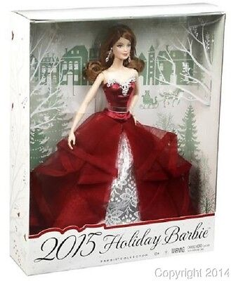2015 HOLIDAY Exclusive Barbie Redhead Auburn Collector Doll NEW!