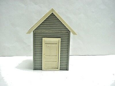 Pola G Scale Grey Model Train Building/Shed/House