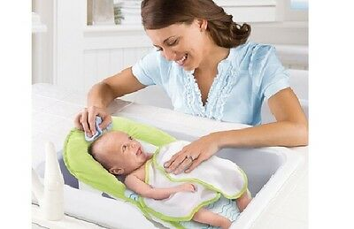 Summer Infant Travel Folding Baby Bath Sling Seat with Warming Wings