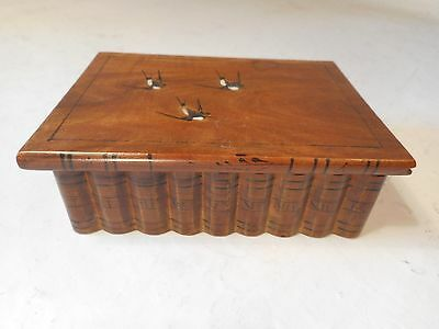 Vintage Sorrento Ware mock Book Box , Secret Lock  , ref 1893