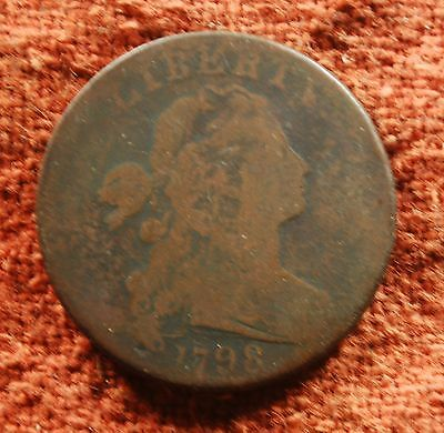 1798 US American Draped Bust S-165 AG Rarity 5 Large Cent