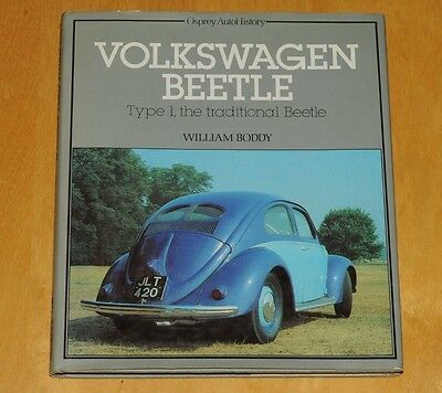 Vw Book,volkswagen Beetle Type 1,william Boddy,osprey Auto History,1982,photo's