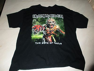 """Iron Maiden """"the Book Of Souls"""" Tour 2016 The Raven Age Shirt Xl No Label"""