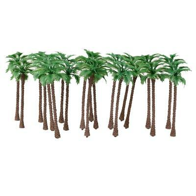 20 Coconut Palm Tree Model Train Tropical Forest Diorama Scene N Scale 1:150