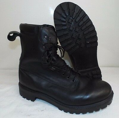 GORE-TEX PRO BLACK LEATHER COMBAT BOOTS  - Size: 12 Large , British Army