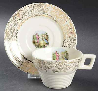 American Limoges FAREWELL Cup & Saucer 2242847