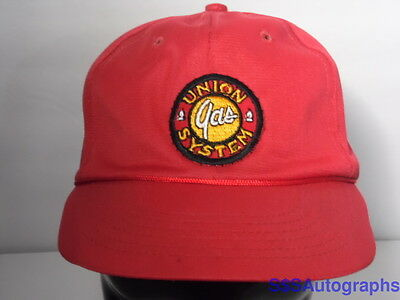 Vintage Youth Sized 1980s UNION GAS SYSTEM Advertising SNAPBACK HAT PATCH CAP