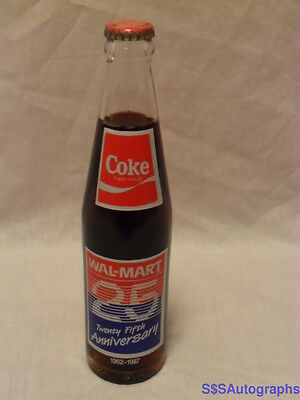 Full New Vintage 1962 1987 Walmart 25Th Anniversary Coca Cola Advertising Bottle