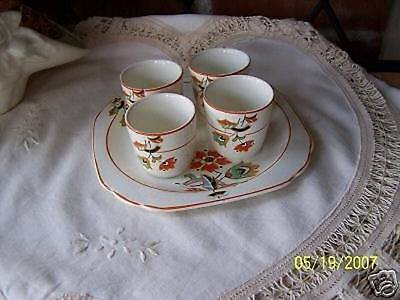 5 PC. Handpainted Egg Cup Set /Made in England/ 1921