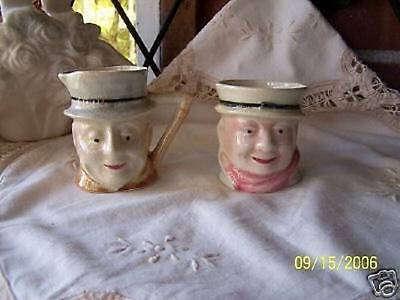 Toby Style Cream And Sugar / EXCELLENT CONDITION