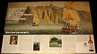 1971 hidden CC Whiskey Ad Ghost of Napoleon St Helena