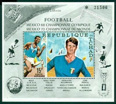 Chad Scott #C66C MNH Olympics Mexico 1968 World Cup 1970 Soccer CV$6+