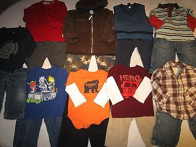 Big Lot of boys clothes, size 12, 12-18 months.  Warm, winter clothes.
