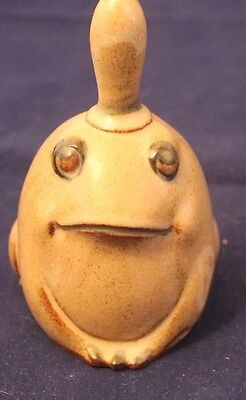Vintage UCTCI Japan Frog Bell Figurine Stoneware Pottery Mint Condition