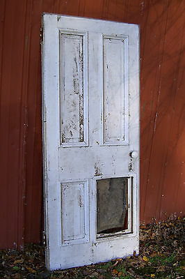 "Vintage, Antique Federal-Style Farmhouse Wood Funeral Door 76.5""X32.5""X2"""