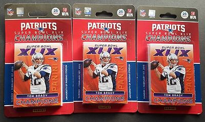 3x Panini Patriots Super Bowl XLIX Champions Set 2015 OVP Sellado
