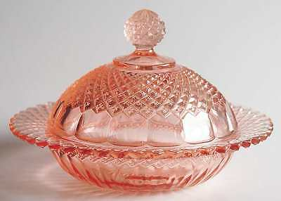 Anchor Hocking MISS AMERICA PINK Round Butter Dish 7266726